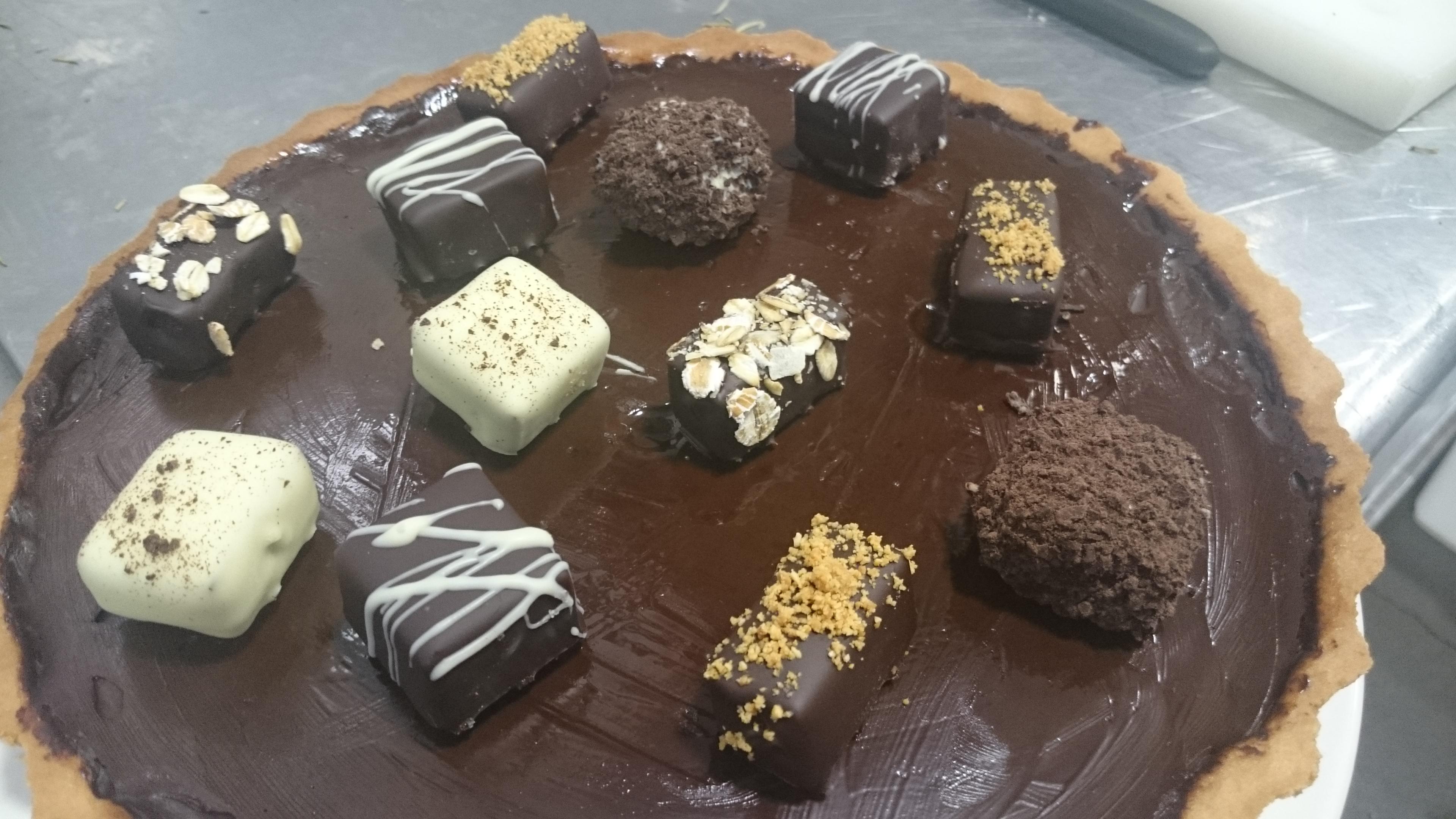 Tarta extraordinaria de chocolate y malvaviscos